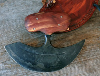 Wood handle ulu