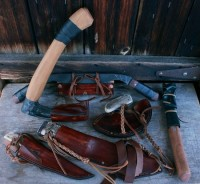 leather sheaths by Aki Yamamoto