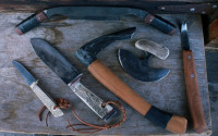 Wilderness survival tools and knives (set)