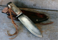 handmade heavy duty bushcraft knife