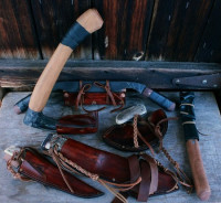 6 piece hunting/ bushcraft set custom leather work