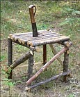 Camp knife building furniture