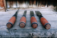 4 handmade framing chisels