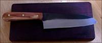 Japanese style kitchen cutlery. Sandoku knife.