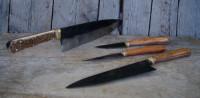 4 handmade kitchen knives