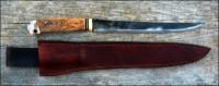 fillet knife profile and handmade sheath