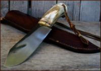 Hand forged camp knife