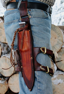 Leg belt knife security for your knife sheath