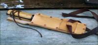 Tool belt chisel sheath leg tie