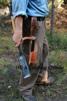 framing slick, wearing a corner chisel in a tool belt scabbard