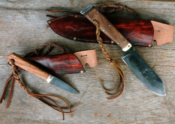 Wiseman and Kirsten camp/hunting knife set profile.