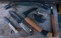 Set of 6 bushcrafter tools
