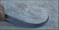 Crooked knife parabolic curved shaped blade