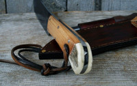 Handmade bushcraft knife, the Wiseman