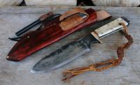 Large handmade & hand forged camp knife