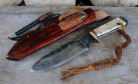 Large handmade & hand forged camp knife