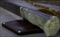 Big camp knife handle