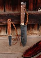 Handmade bushcraft knife set