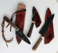 Kitchen knives with sheaths