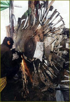6 foot in diameter saw blade skeleton