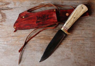 handmade survival knife.