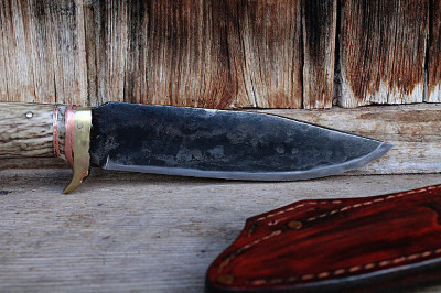 handmade, forged survival knife