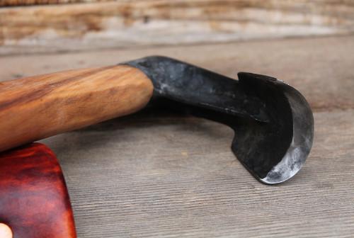 close up of a bowl adze edge