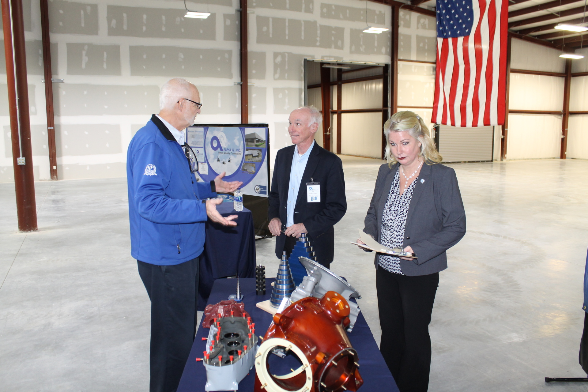 Congressman Joe Courtney Visits Alpha Q, Inc.