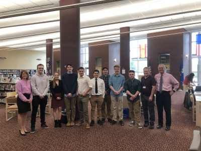 Alpha Q, Inc. Visits RHAM High School