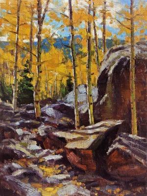 12 x 9    Autumn Aspen    Oil