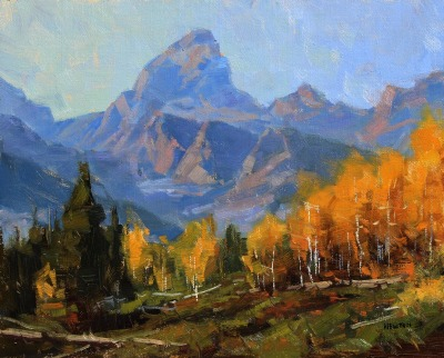 11 x 14     Ascent of Fall     Oil