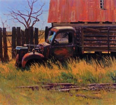 36 x 40     Rust -n- Weeds     Oil