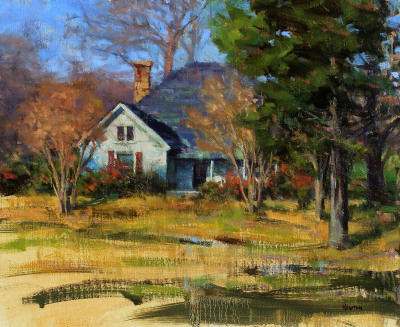 14 x 18     Southern House     Oil
