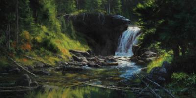 20 x 40     Moose Falls Mist     Oil