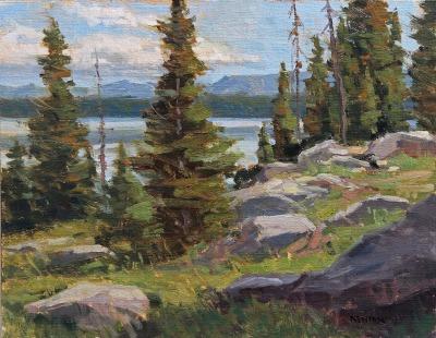 11 x 14     Jenny Lake Pines     Oil