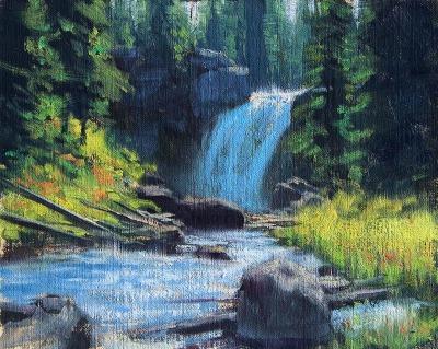 8 x 10     Moose Falls Study     Oil