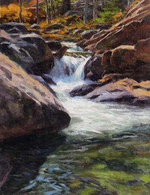14 x 11     Over the Rocks      Oil