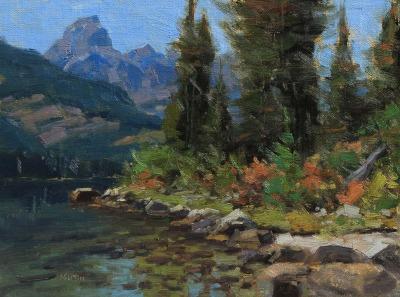 9 x 12     Taggart Lake Study    Oil