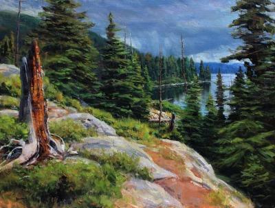 29 x 37     Jenny Lake     Oil