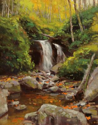 14 x 11     Grotto Falls     Oil