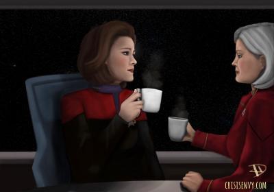 #star trek voyager #captain janeway #admiral Janeway