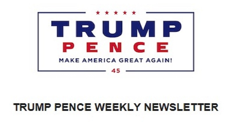 DRS REPORT: Trump Pence Weekly Newsletter 11/18/17