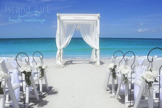 Simple Wedding Arbor | Beach Weddings in Florida