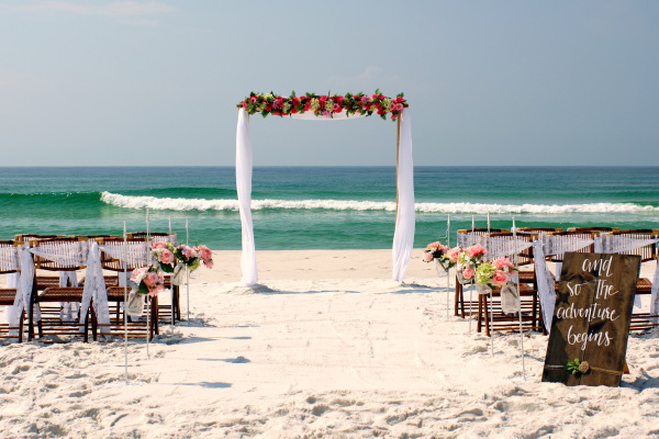 Orang Beach Alabama Beach Wedding.