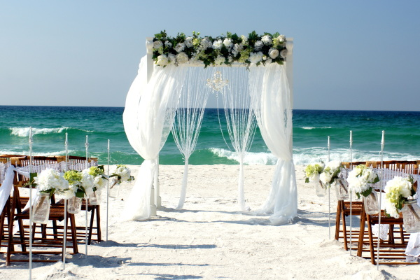 Florida Emerald coast beach.