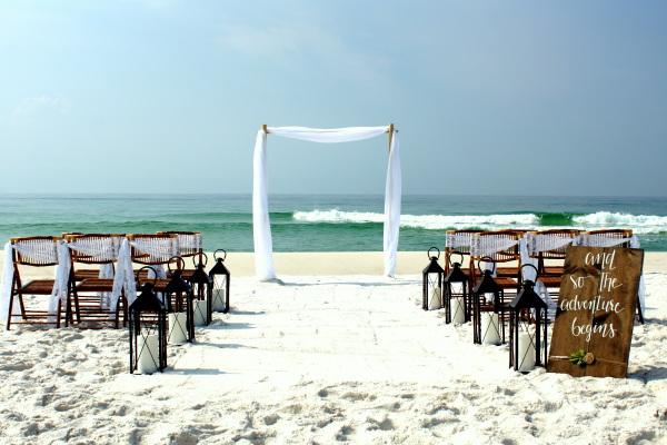 Gulf Shores Simple Beach Wedding.