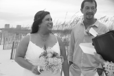 A perfect day for their Pensacola Beach Wedding!