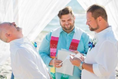 LGBT Beach Weddings in Pensacola, Florida.