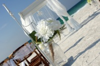 Perdido Key Beach Weddings, Pensacola, Navarre beach wedding decorations.