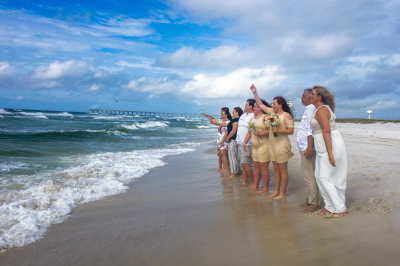 Beach Wedding on Navarre Beach, Florida